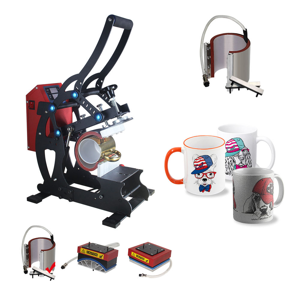 4 in 1 pen heat press machine cup Mug Hat Plate printing machine sublimation transfer machine