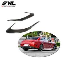 Carbon Fiber Rear Bumper Canards for Mercedes Benz CLS Class W218 CLS63 AMG 2018-2019