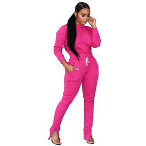 2020 Women sweatsuit tracksuits joggers sweat track suits set fall clothing for women