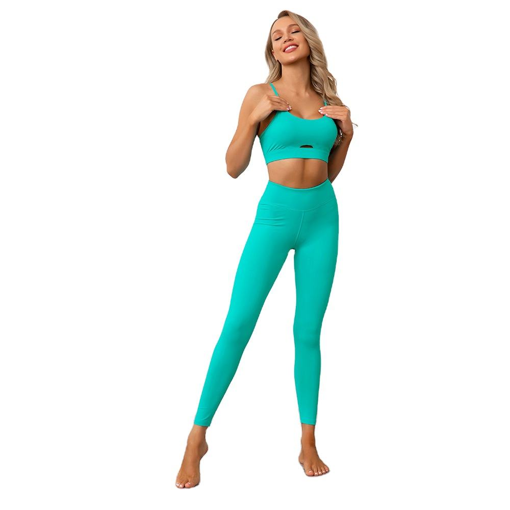 Beauty back soft skin-friendly breathable quick-drying various colors yoga clothes gym suit for women