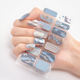 Wholesale glitter nail wraps sticker colorful easy use nail foil sticker
