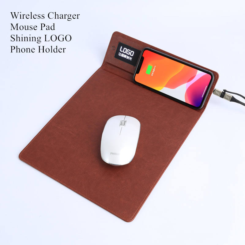 mouse pad charger with RGB led light up custom logo 2021 new ideas promotional gifts