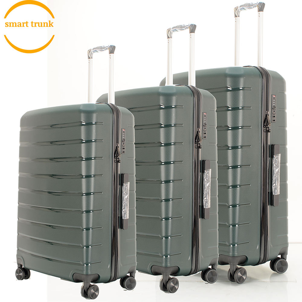 2020 Nieuwe Ontwerp PP Hand Trolley Koffer Set 3pcs 20inch 24inch 28inch Polypropyleen Bagage