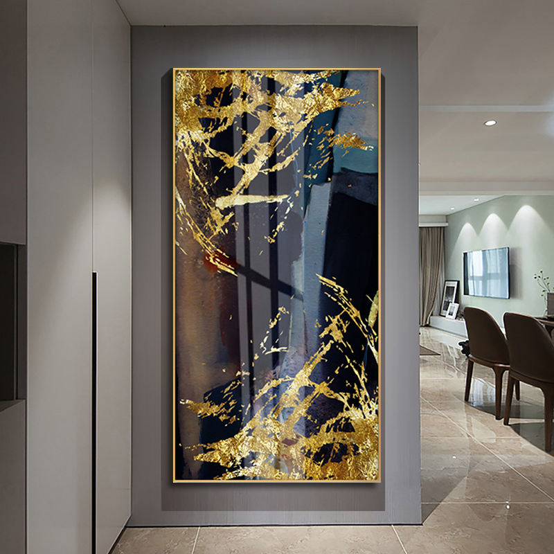 Artwork Factory Wholesale Newest Design Printed Glass Frame Wall Decor Abstract Canvas Painting Artwork Hot Sale
