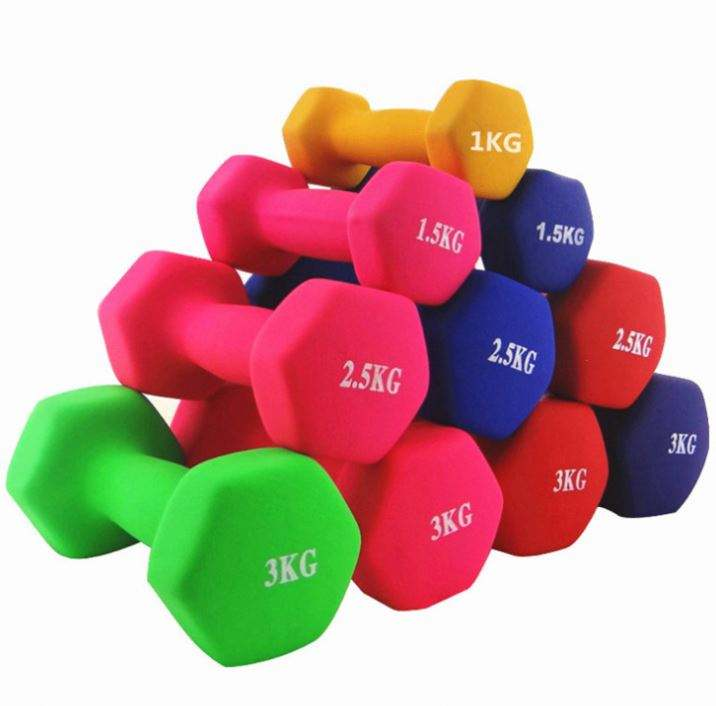 0.5KG de Ferro Fundido Hexágono Matt Cor Body Building <span class=keywords><strong>Dumbbell</strong></span> Muscle Training Gym Yoga Aptidão Halteres