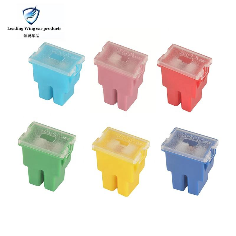 Short insert square connection type Jcase car fuse 20A 30A 40A 50A 60A 70A 80A 100A 120A Automotive Fuses box For car and truck