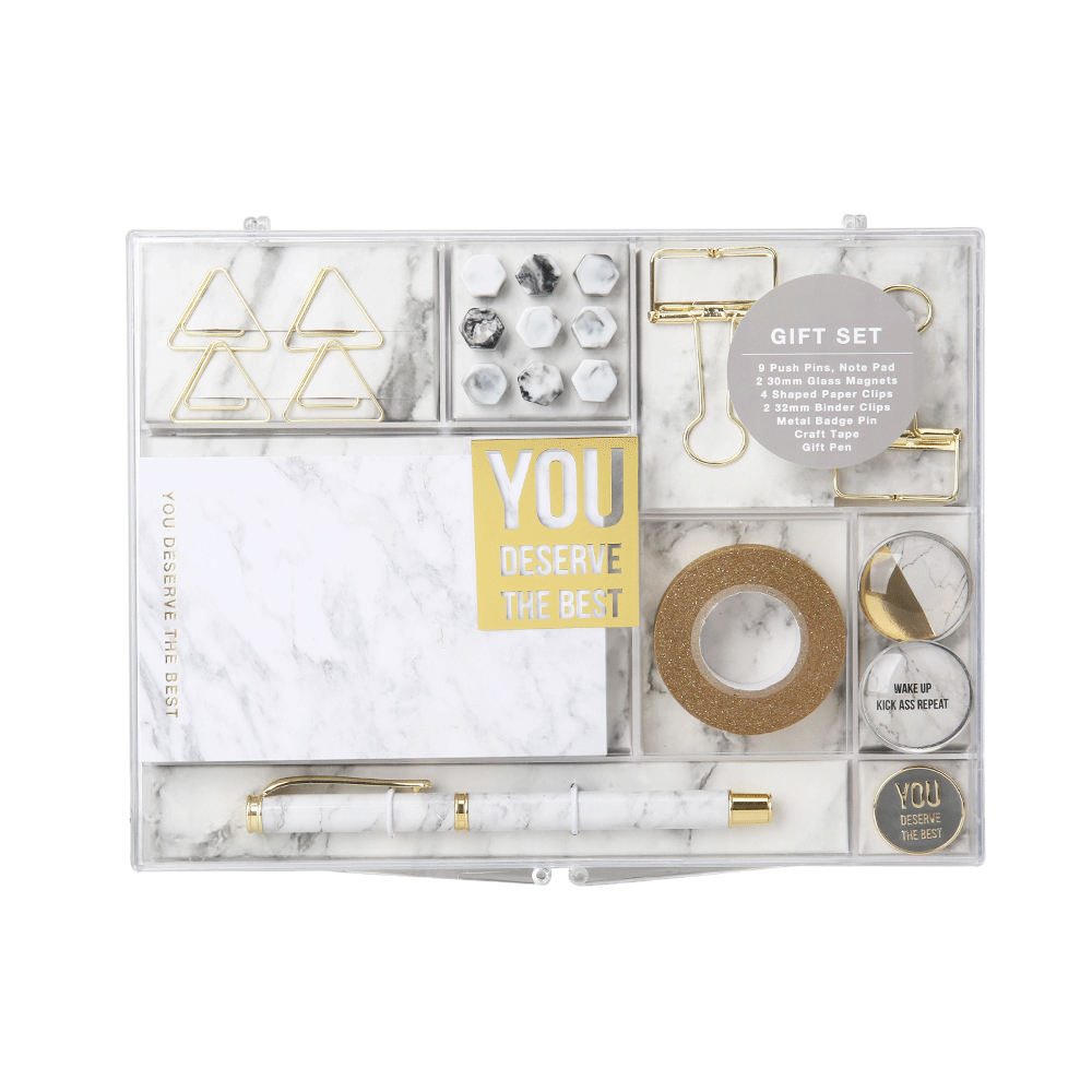 Stylish and refined marble school gift set for kids stationery set office supplies