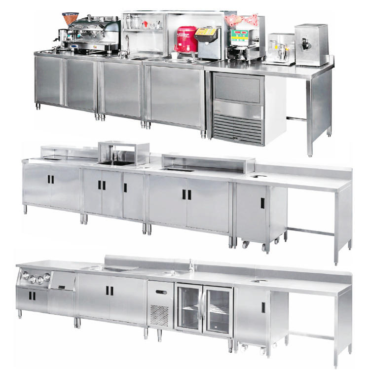 stainless steel restaurant commercial modern design bar counter for sale