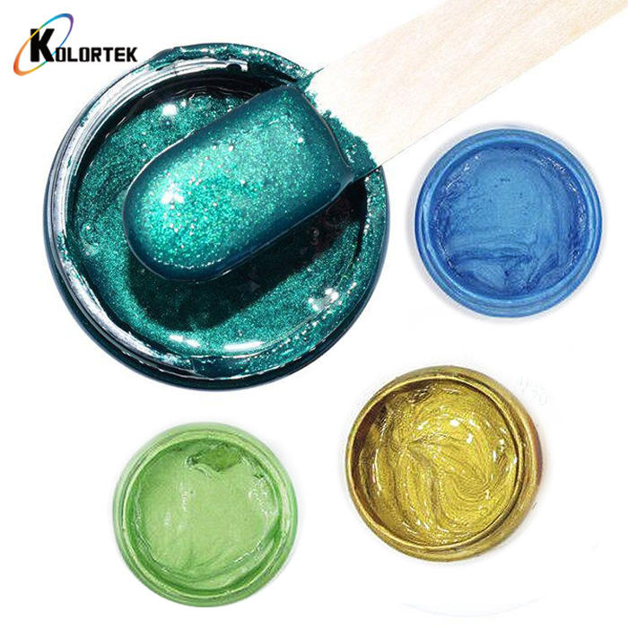 Kolortek Metallic Mica Pearls Liquid Epoxy Pigment Paste for DIY Epoxy Painting Slime Art Craft Resin