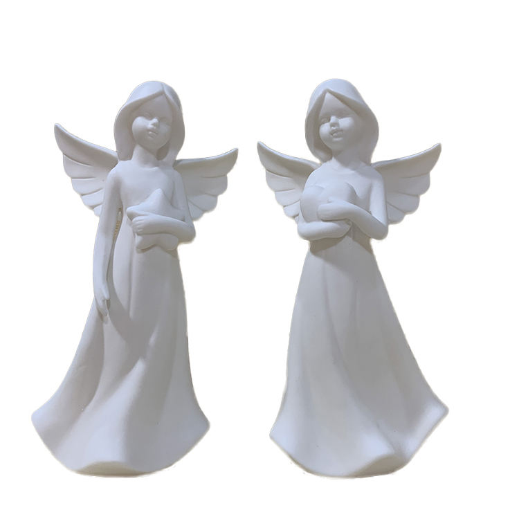 Tabletop Love Holding Heart Angel Hand Caved Lighted Sculpture