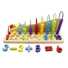 Intelligent  Educational Learning Baby Montessori Beads Math Counting Wooden Abacus Toy for Kids