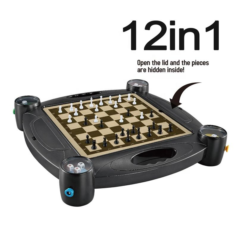 12 IN 1 multifarious board game chess Automatic dice chessboard chess set