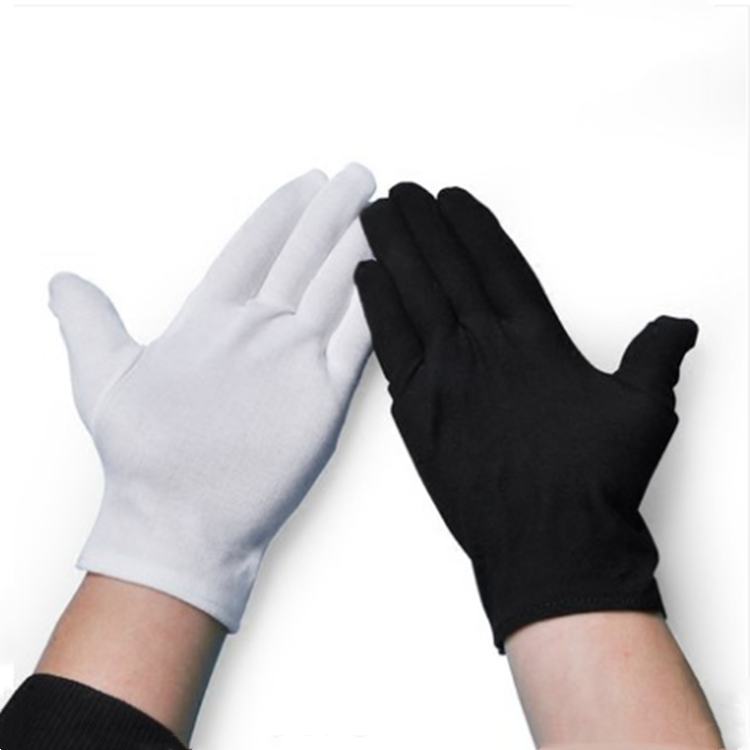 Pure cotton gloves black general assembly etiquette working gloves