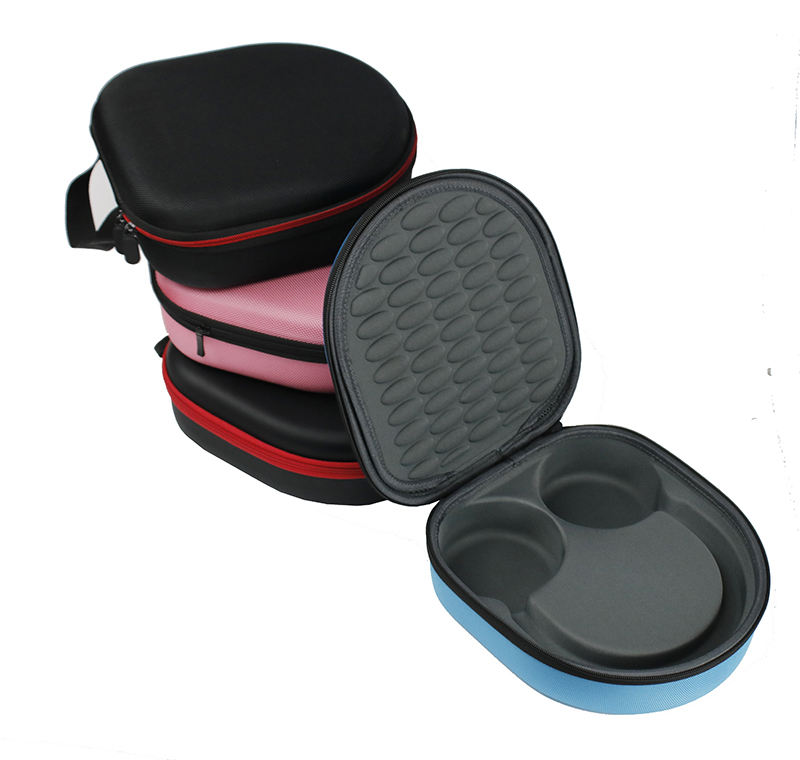 Hard EVA Headset Case Carrying Molded Folded Insert Headphone Case with Handle