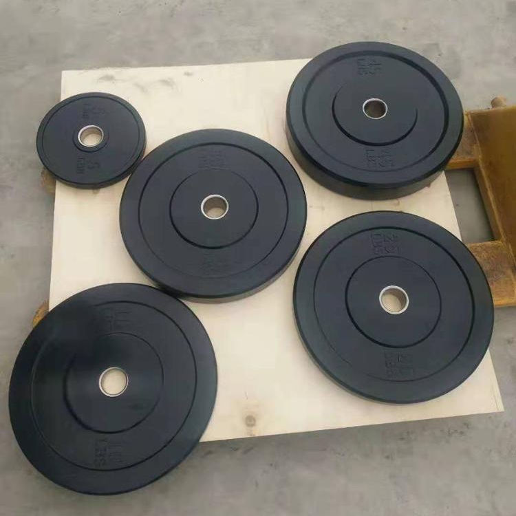 Black Bump Plates For Weight Lifting Rubber Bumper