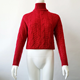 Women Pullover 2020 New Hot Sale Knitting Sweater Women Long Sleeve High Neck Short Sexy Cropped Twist Knit Sweater Pullover
