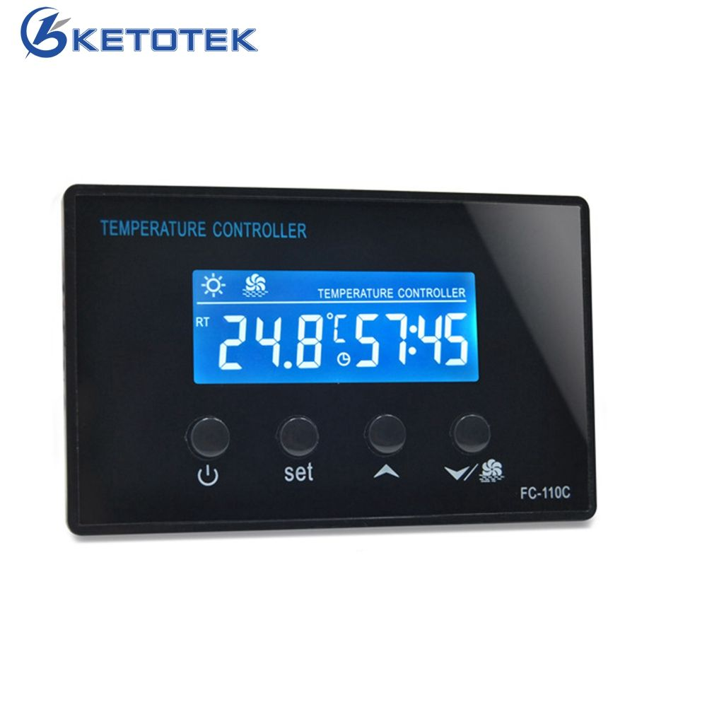 LCD Sauna Digital Thermostat Steam Room Temperature Controller Regulator Control Panel With Timer Time Countdown Function