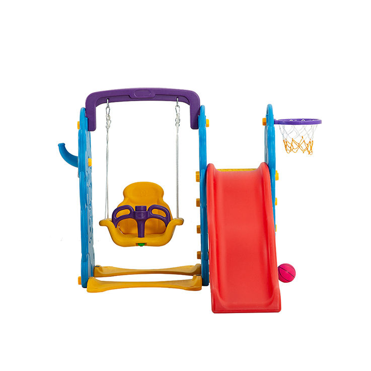 Slide indoor and swing plastic playground for kids