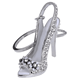 Key Chain Sparkling Crystal High-heeled Shoe Key Chain Q011
