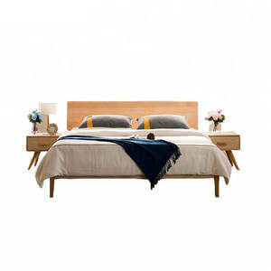 factory directly supply bed room furniture solid wood beds design furniture wooden bed