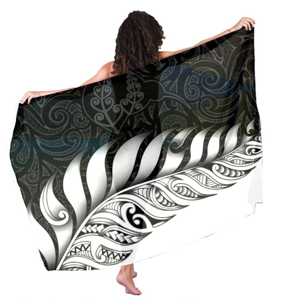 Custom Print White Polynesian Leaf Tribla Print Sarong with Tassels Toallas Sarong for Women Beach Wear Towel Wholesale