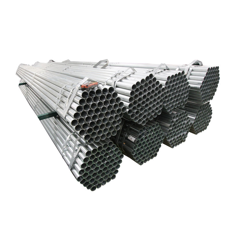 EN10219 Hot Dip Galvanized Steel Pipe Gi Tube 1.5 Inch For Gas