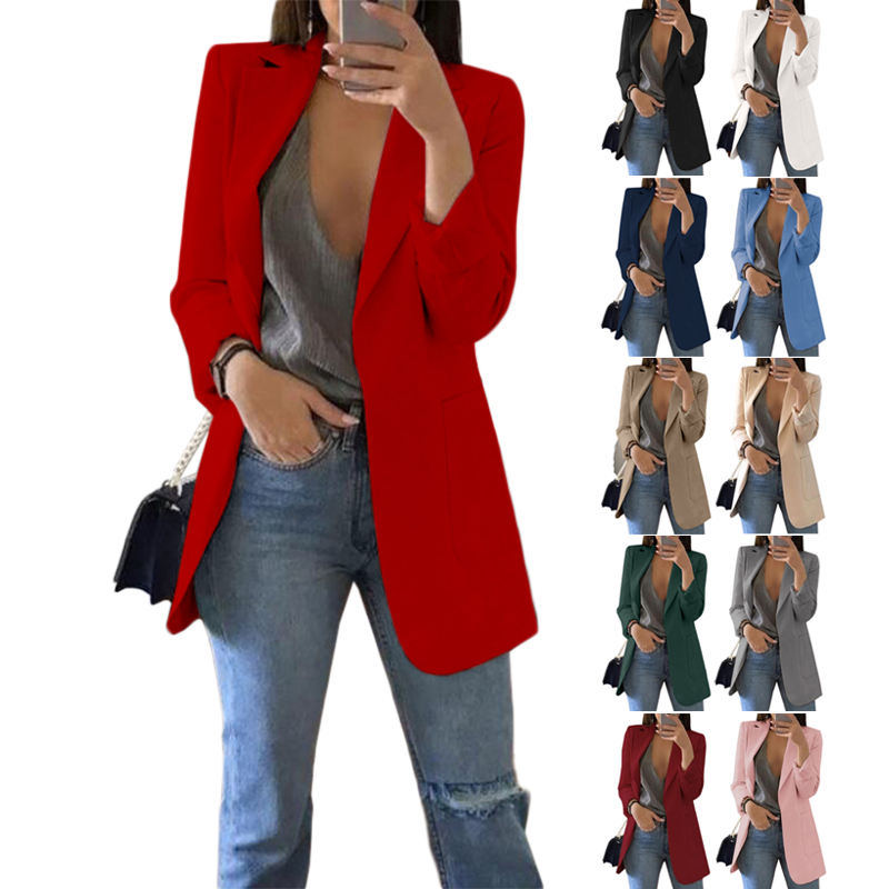 OEM Custom Fashion 5XL Plus Size Red Formal Blazers and Coats for Women