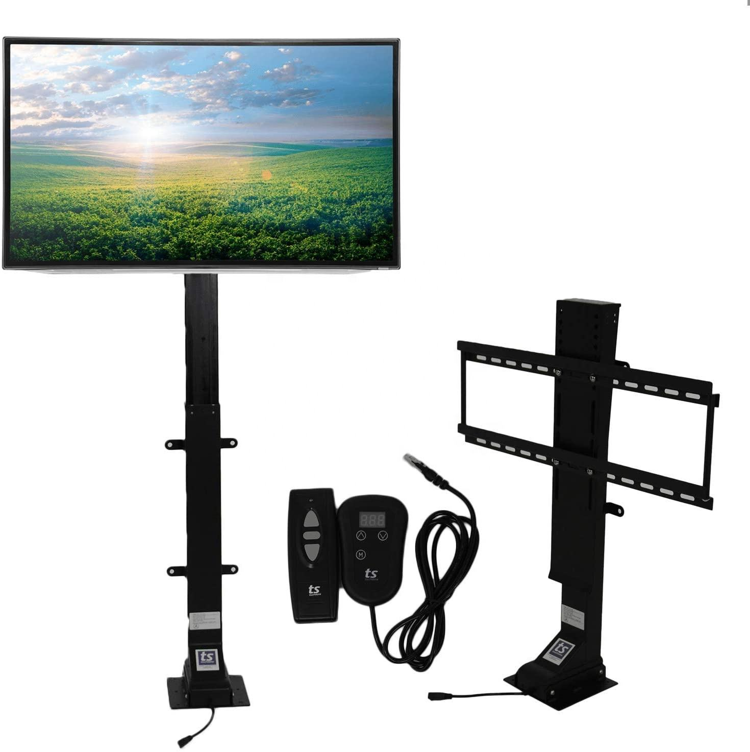 32''~70'' TV Wall Mount Double Arm/Motorized TV Lift Stand w Remote Control Electric Power Lift Tv Cabinets
