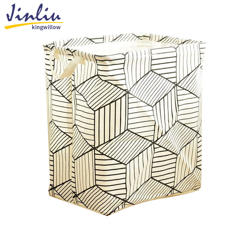 Jinliu Wholesale Collapsible laundry Bags Hamper Fabric Foldable Laundry Baskets With Handle