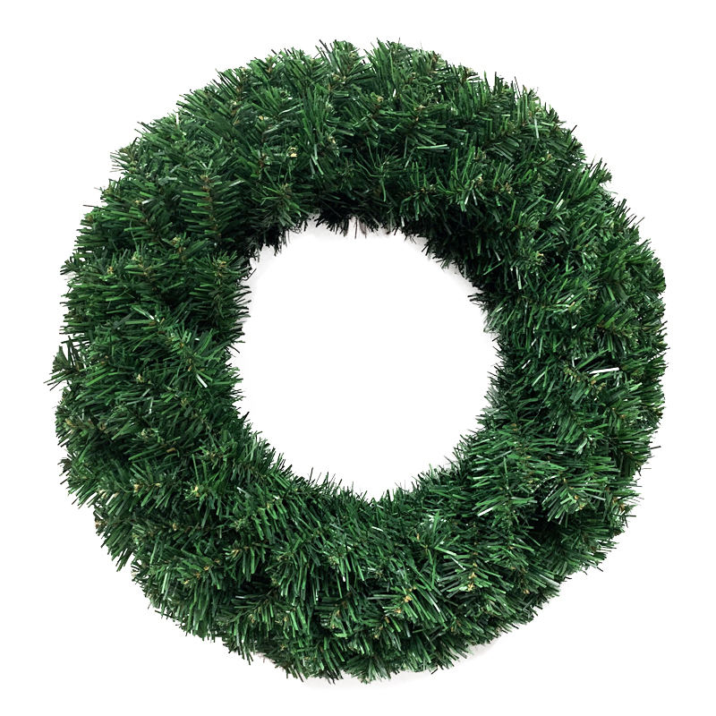 Christmas decorations wreath 1-3ft encryption green PVC ordinary door hanging Christmas wreath