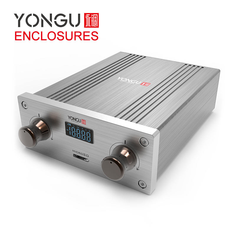 Yongu 106*40mm DIY tube amp chassis car audio amplifier box transmitter receiver aluminum enclosure for car amplifier