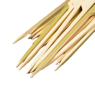 Green Skin Bamboo Gun型Round Square BBQ Food Sticks