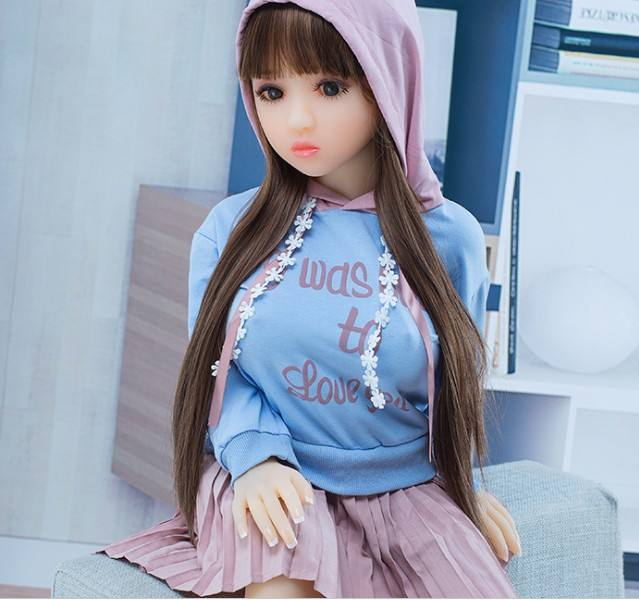 Small Flat Chest Young Girl 18 Sex Love Doll Full TPE Silicone Japanese 100cm Mini Sex Doll For Adult