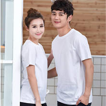 100% cotton O neck cheap quality blank custom logo printing couple tee shirt t shirt for women and man