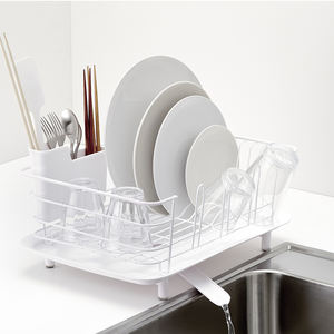 SHIMOYAMA Multifunctional Kitchen Stainless Steel Magsafe Stand Dish Drying Rack Storage Holders With Utensils Holder