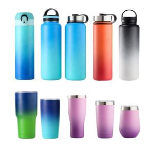 Eco Friendly Insulated Costom Logo Double Wall Thermos Wine Tumbler Stainless Steel Sport Clear Bpa Free Water Bottle