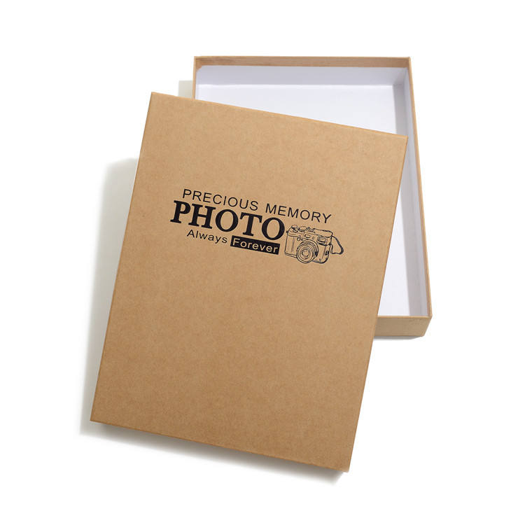 High Quality Cheap Eco Friendly Brown Kraft Paper Gift Box for Photo Packaging