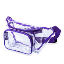 New Fashion Pvc Belt Bag Waterproof Travel Waist Belt Bag Wholesale Transparent Clear Bag With 3 Pocket