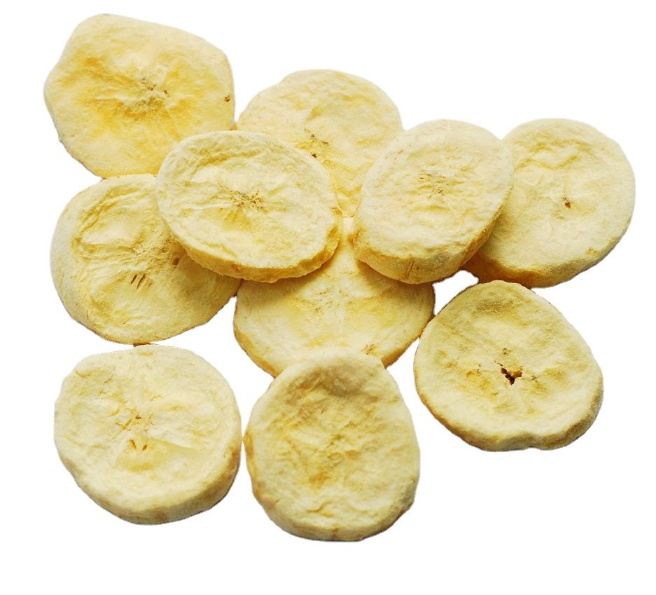 Chinese natural crispy snack Freeze dried banana fruit no sugar added food 25g