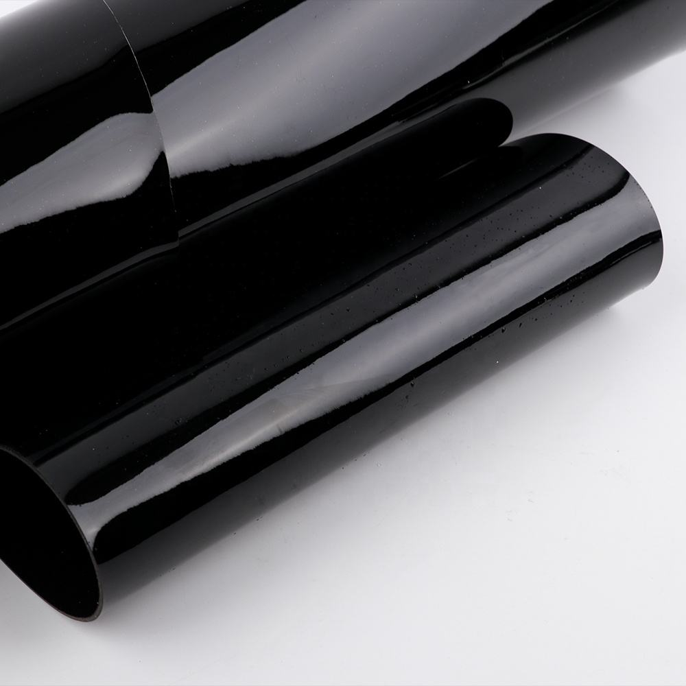 patent leather black pvc roll imitation leather high glossy black