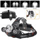 Headlight Rechargeable BORUiT 30Watt High Power 5000lumen Head Lamp Headlight 18650 Usb Rechargeable Led Headlamp For Mining
