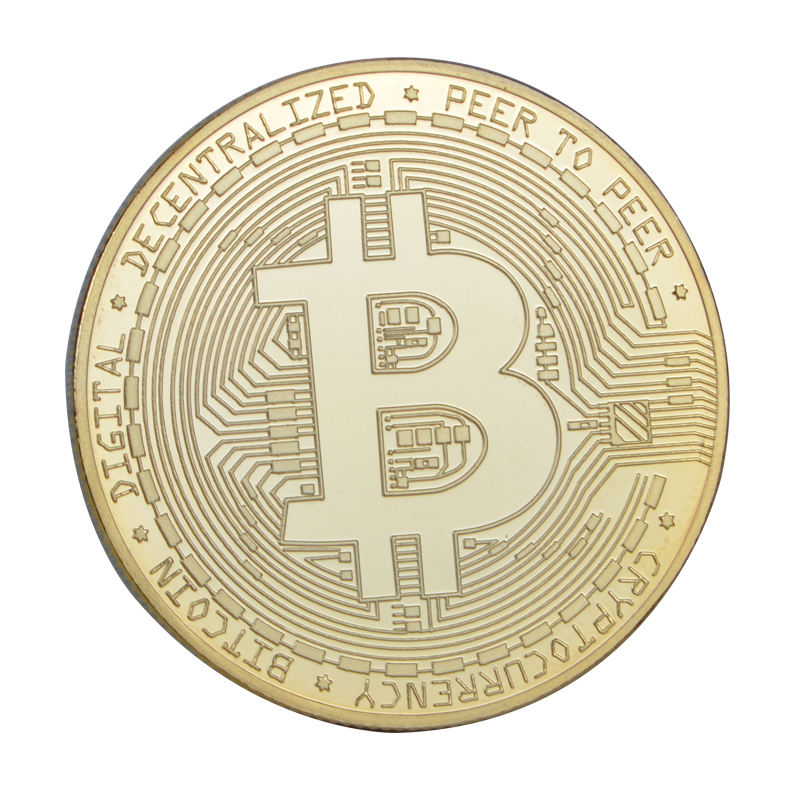 Creative Souvenir Gold Plated Bitcoin Coin Collectible Great Gift Bit Coin Art Collection Physical Gold Commemorative Coin