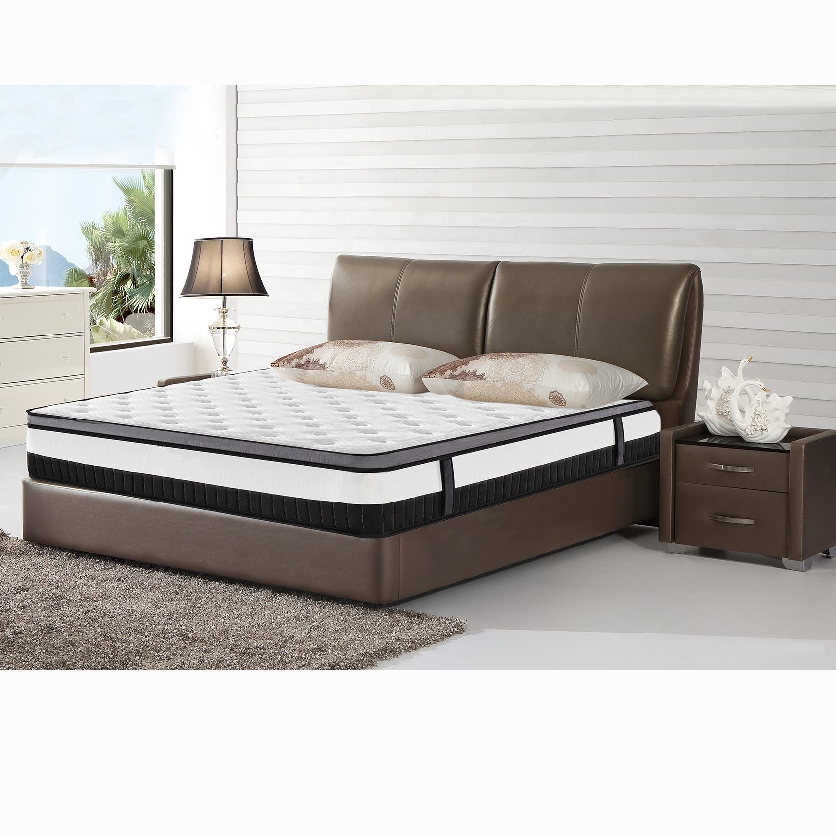 Hotsale bedroom furniture made in china vacuum compress coil spring mattress