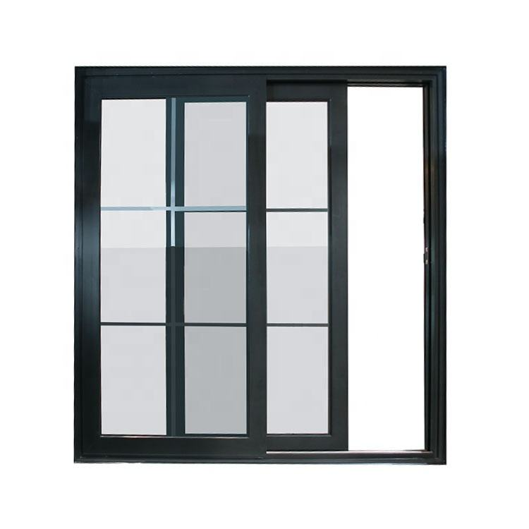 Modern Security Heavy Aluminium French Sliding Glass Windows