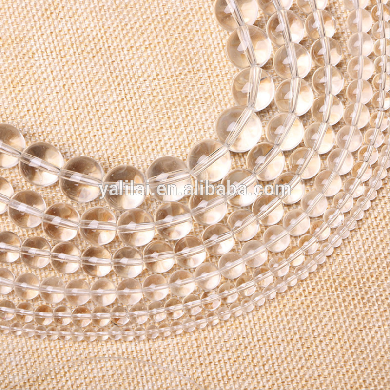 Atacado 14mm natural claro cristal de quartzo stone beads