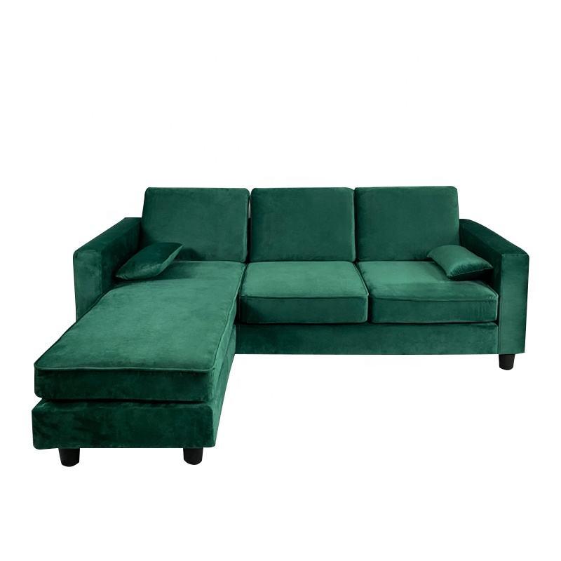 Venta al por mayor moderno en forma de L de tela <span class=keywords><strong>casa</strong></span> habitación de esquina de muebles de sofá