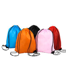 Original factory cheap polyester custom promotional drawstring gym bag sack pack christmas drawstring gift bags
