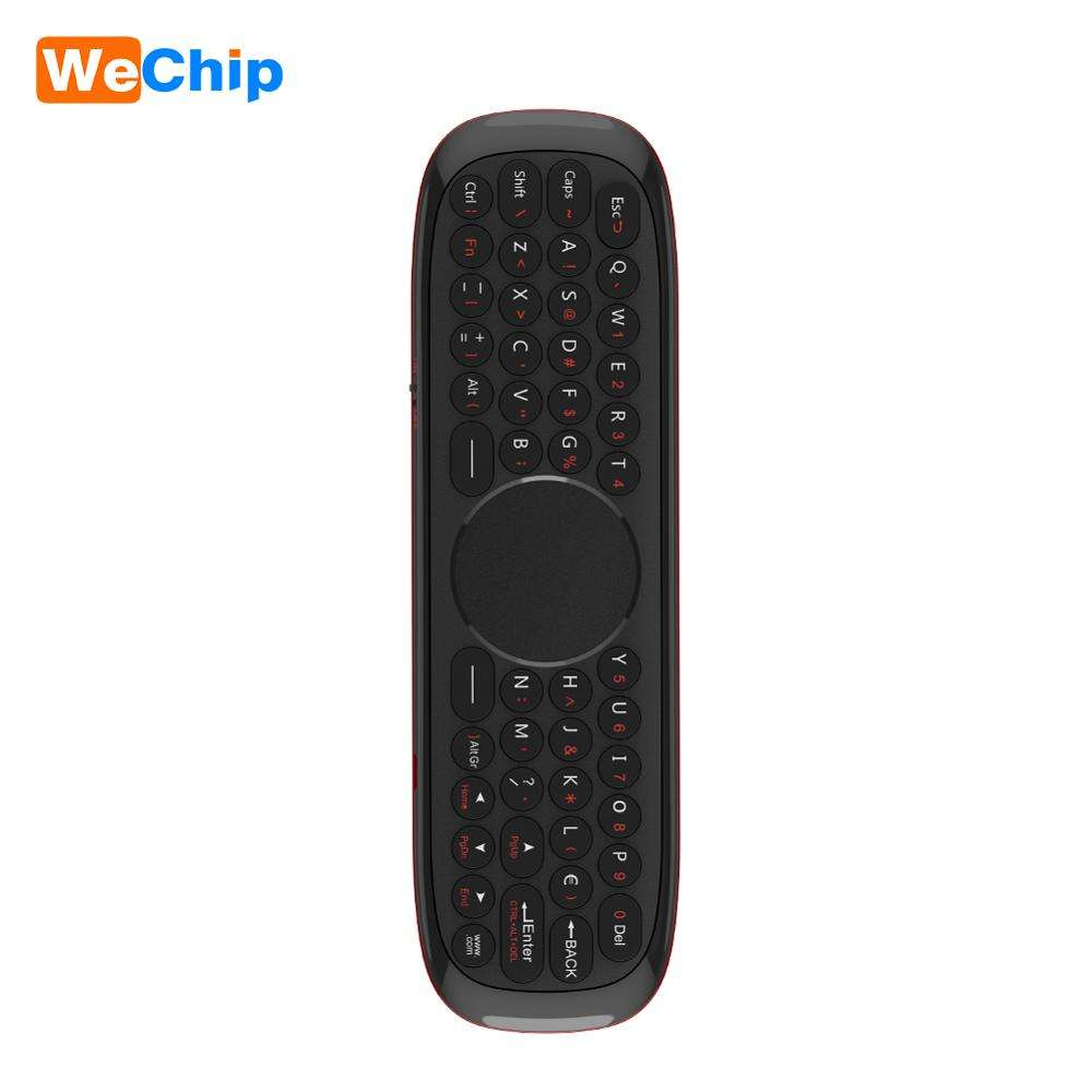 Wechip W2 voice remote control 2.4g mini wireless keyboard air mouse android touchpad mini keyboard