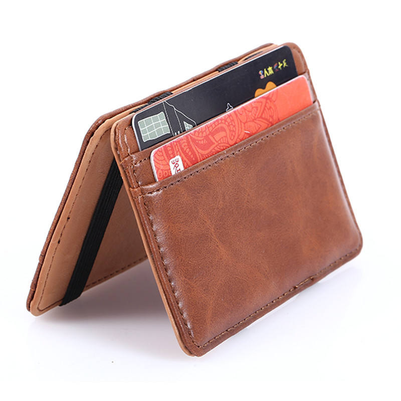 China wholesale rfid mans slim minimalist men elephant genuine leather wallets magic custom key wallet waterproof wallet