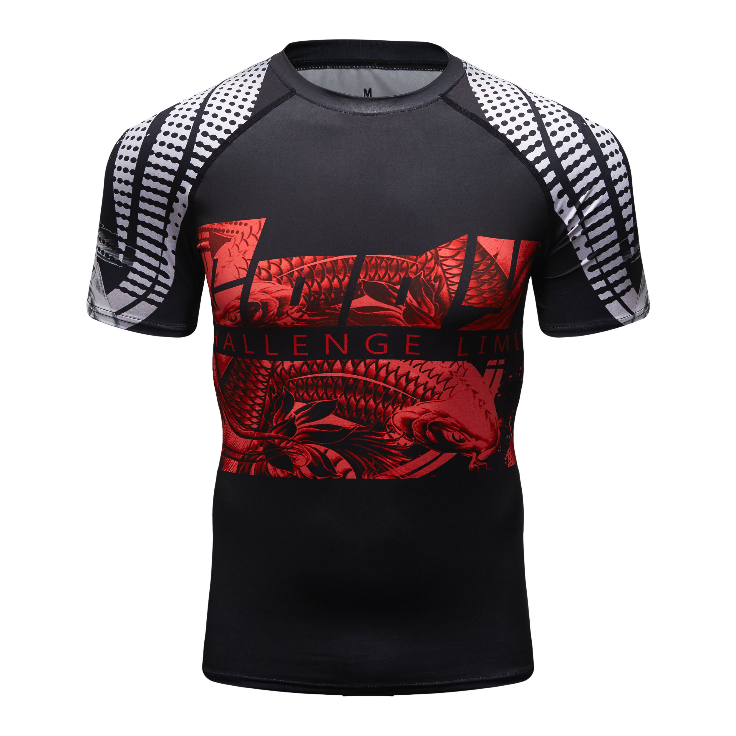 Sublimation Compression Short Sleeve T Shirt Men Brazilian Jiu Jitsu Rash Guard